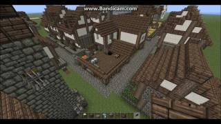 minecraft medieval town monastery church modular tutorial