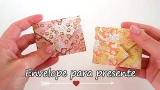 Envelope para Presente - Origami fácil [ Lembrancinhas / convites ]