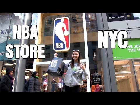 MY TRIP TO THE NBA STORE IN NEW YORK || Vlog 001