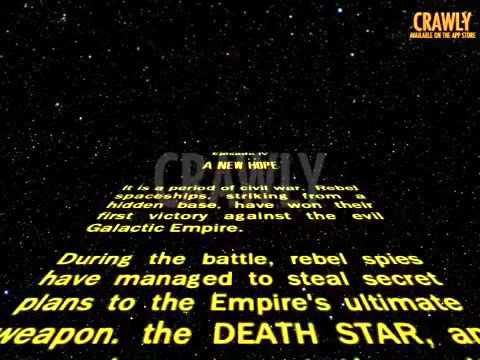 Star Wars Episode 4 Opening Crawl