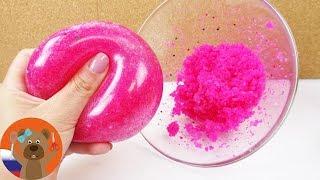 Мячик антистресс с блестками и желе для ванны | Своими руками