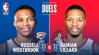 Damian Lillard & Russell Westbrook Both Drop 30+ In Game 3 | April 19, 2019