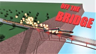 OFF THE BRIDGE! | Rails Unlimited | Roblox