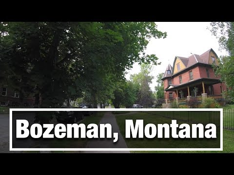 City Walks: Bozeman Montana Treadmill Walking Tour - South Side
