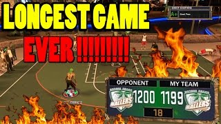 LONGEST GAME EVER IN HISTORY!! I ALMOST DIED OF EXHAUSTION LMAO! LIVE REACTION NBA 2K17 NO CLICKBAIT