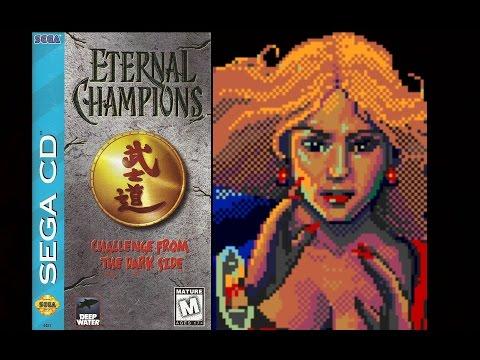 Eternal Champions: Challenge from the Dark Side (Sega CD) - Jetta Playthrough (Warrior)