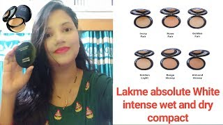Lakme absolute White intense wet and dry compact review amp demo Best for summer makeup kit essential