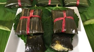 Sweet Sticky Rice Leaf Cakes-banh Gai-vietnamese Food Recipes-louts Seeds,la Gai-mung Bean