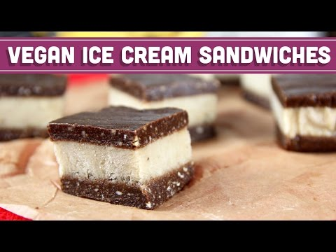 Raw Vegan Ice Cream Sandwiches with 4 Ingredients! Collab with LoveHealthFitness!