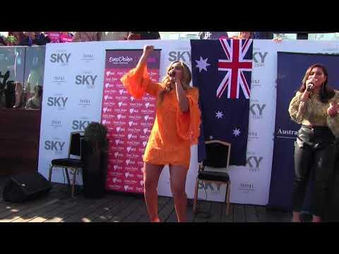 ESCKAZ in Lisbon: Jessica Mauboy (Australia) - We Got Love (at Australia reception)