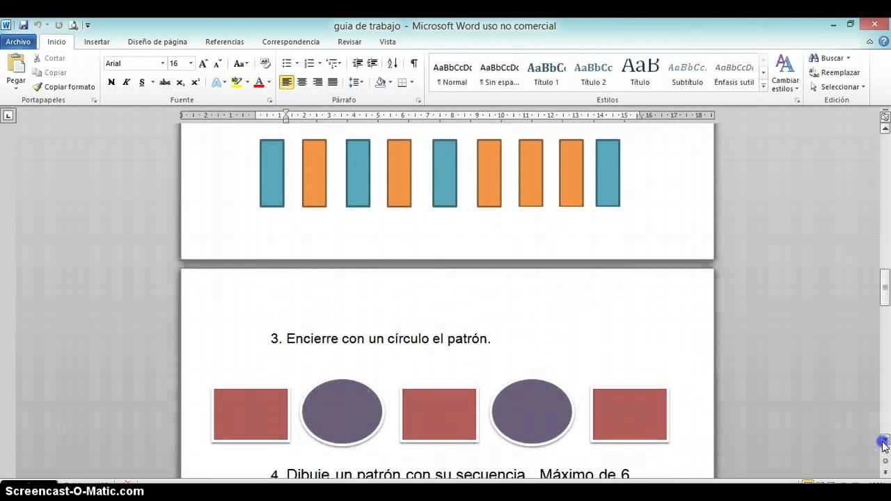 Contenido: Figuras, patrones y secuencias. - YouTube