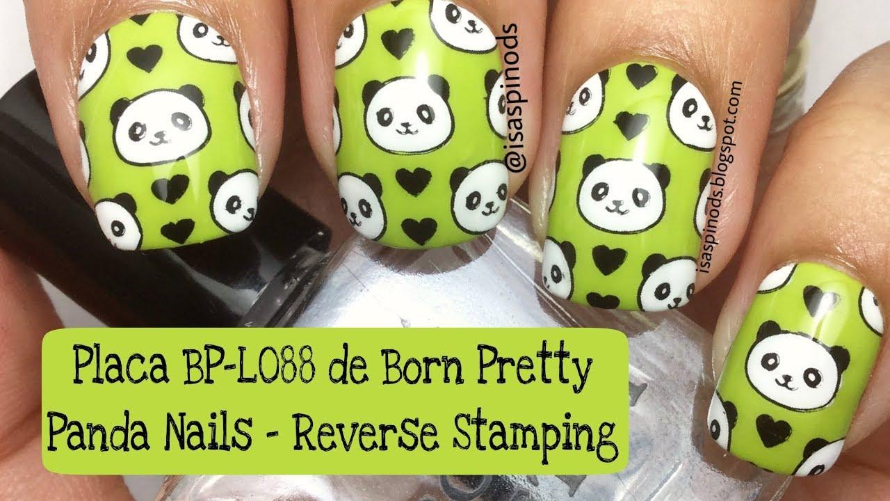 Reverse Stamping - Decoración de Uñas con Pandas Placa BP-L088 de ...