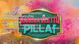 Ganda Kannazhagi Full Song Karaoke with Lyrics || Namma Veettu Pillai || Music Media |||