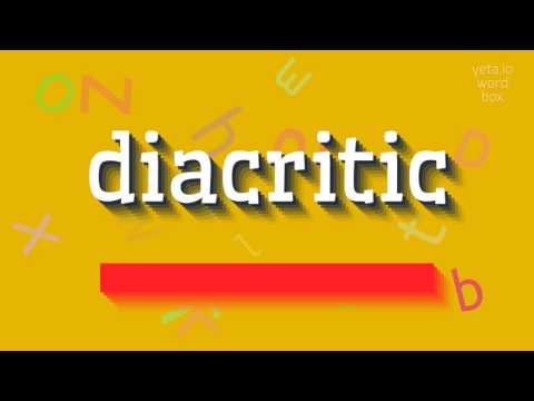 "How to say ""diacritic""! (High Quality Voices)"
