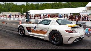 800 HP Mercedes SLS AMG vs Lamborghini Huracan