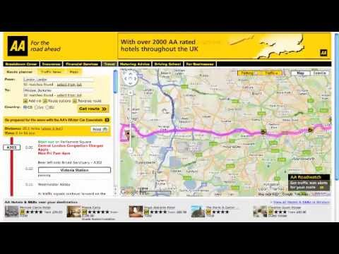 AA Route Finder in action - Guide to using the AA Route planner