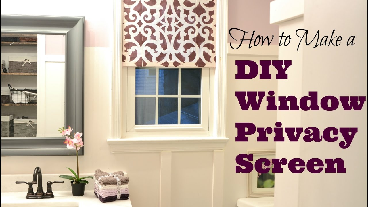 How To Make A Pretty Diy Window Privacy Screen Tutorial Thrift Diving