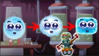 ПРИКЛЮЧЕНИЯ СИНИЙ Капельки Роботы Нападают Как менялся синий шарик  Мультики для детей Синий ШАР 9