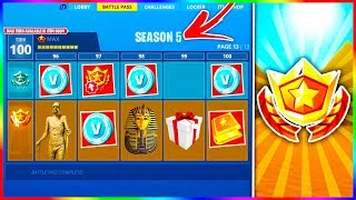 "NEW ""SEASON 5"" Fortnite Items & Leaks! - Free Season 5 ""BATTLE PASS"" in Description!"