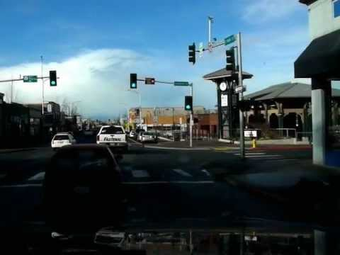 Driving into Port Angeles Washington.