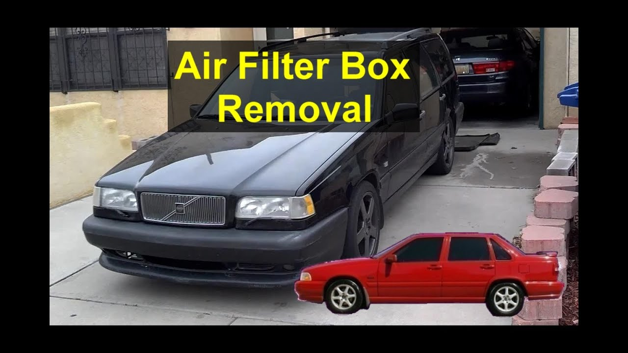 how to remove and install the air filter box on a volvo 850 s70 v70 etc votd [ 1280 x 720 Pixel ]
