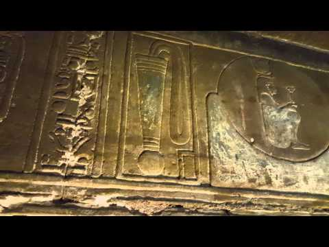 Under Dendera Temple, with Mohamed Ibrahim