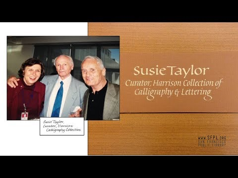 Calligrapher Susie Taylor Memorial at the San Francisco Public Library