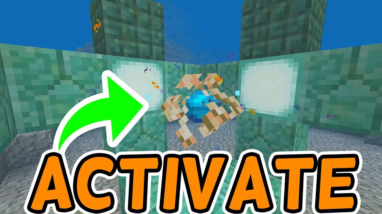 minecraft bedrock 1 5 how to activate the conduit youtube. Black Bedroom Furniture Sets. Home Design Ideas