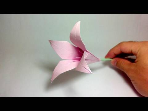 Papercraft Origami Flower - Lily (100th video!)