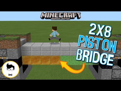 Minecraft BE AWESOME 8x2 PISTON BRIDGE! (PE/Xbox/PS4/Windows10/Switch)