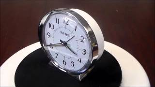 Westclox Big Ben Classic 1964 Reproduction Loud Bell Quartz Alarm Clock  Silver Tone  White