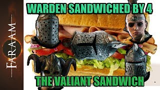 Warden Sandwiched by 4 - The Valiant Sandwich [For Honor]