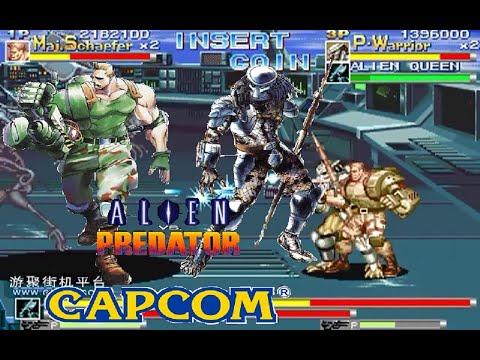 Alien Vs Predator Arcade Lev8 Major Dutch Schaefer and Predator Warrior no death playthrough