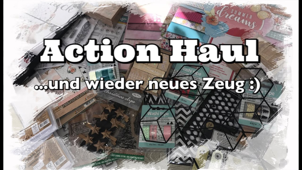 Action Haul Deutsch Neue Blocke Deko Washi Tape Scrapbook