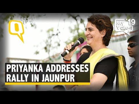 Priyanka Gandhi Addresses Rally in Jaunpur, Uttar Pradesh
