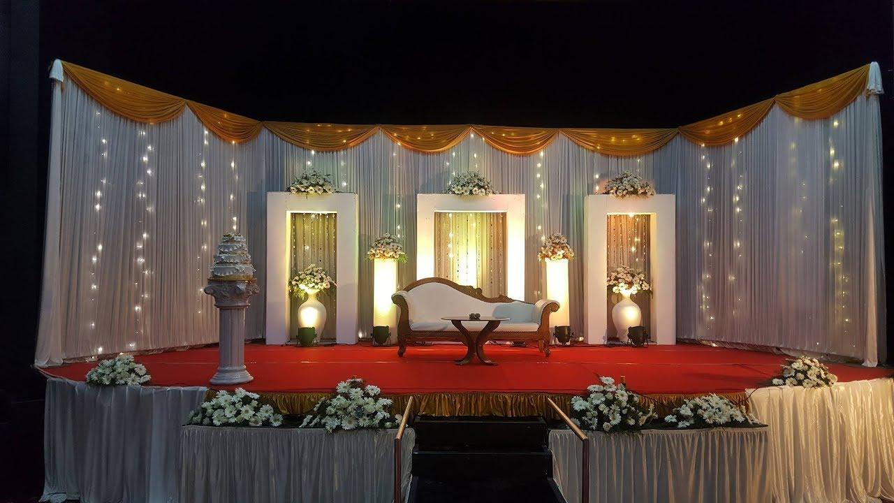 Simple Hindu Kerala Wedding Stage Decoration Kerala