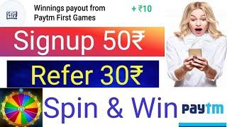Free 50₹ Paytm Signup bonus   Top Paytm Money earning apps   Spin & Earn instant paytm Wallet Cash