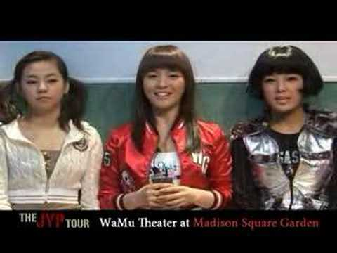 Wonder Girls Inviting You to the JYP Tour