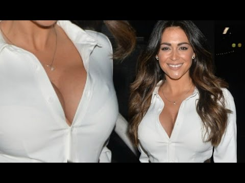 Casey Batchelor Flashes Her Cleavage In white Shirt Dress thumbnail