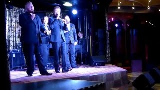 "Soul'd Out Quartet singing ""I'll Fly Away"" in the Queen Mary Lounge..."