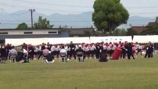 第二回あさぎり中学校体育大会赤団応援