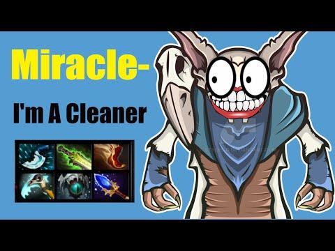 Miracle- Meepo Dota 2 - Fucking Cleaner - Rank Match Gameplay