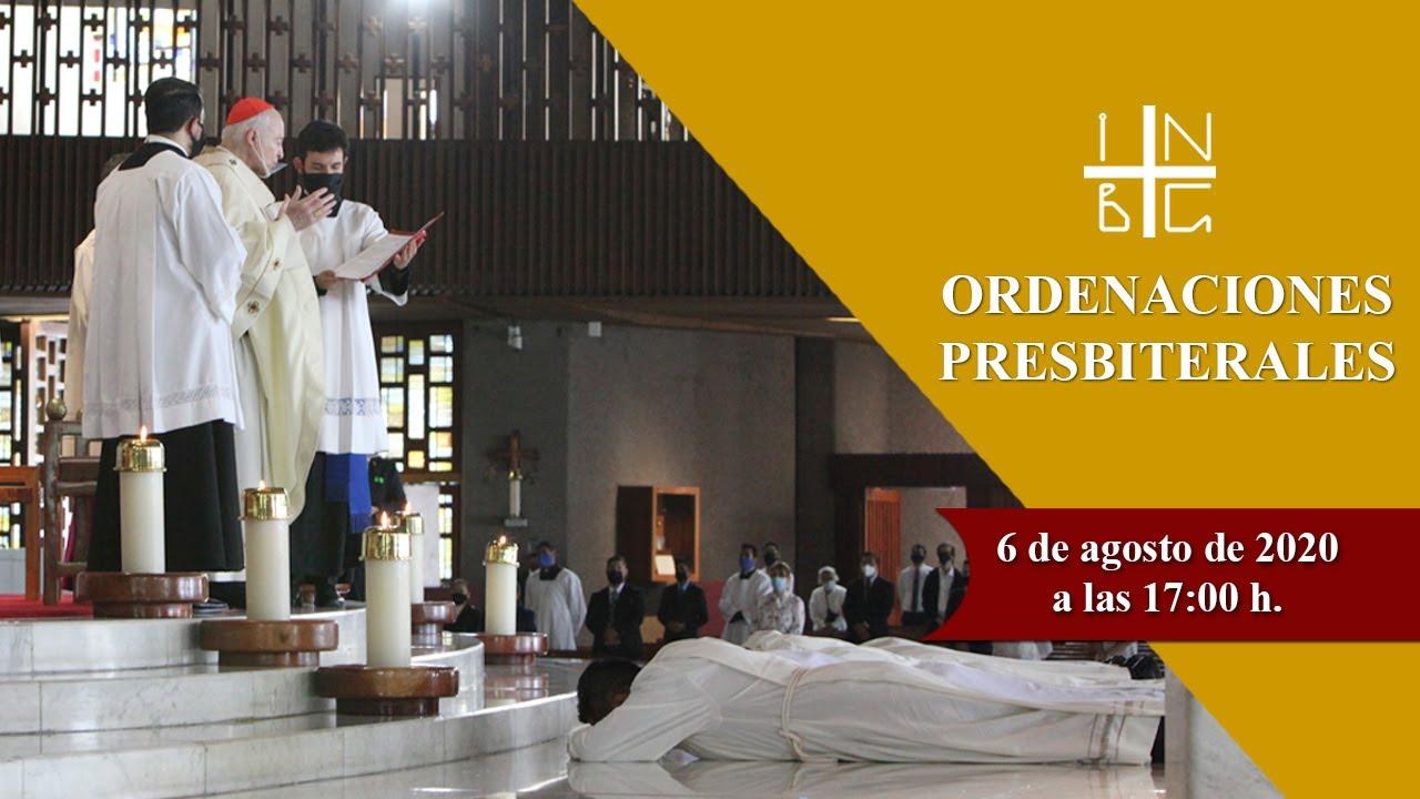 Ordenaciones Presbiterales, 6 de agosto de 2020, 17:00 h.