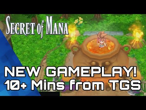 Secret of Mana! PS4 Remake 10mins of New Gameplay