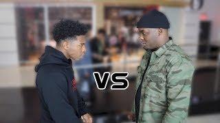 DuB vs Deshae Frost RAP BATTLE . . .   RANDOM RAP BATTLE CHALLENGE PT