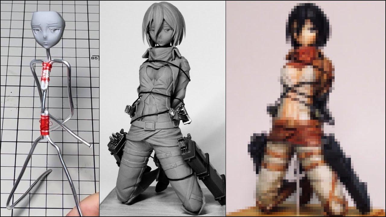 【進撃の巨人】ミカサ・アッカーマンのフィギュアを作ってみた【粘土】the Making of Mikasa Ackerman Figure 【Attack on Titan】