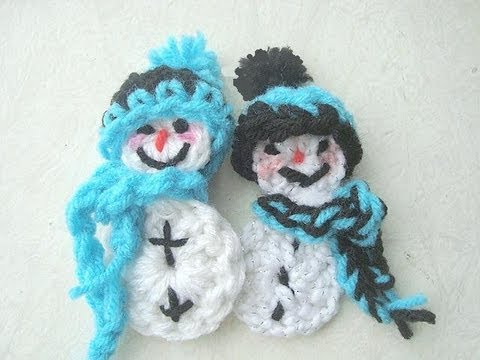 Crochet A Snowman Ornamentwmv Youtube