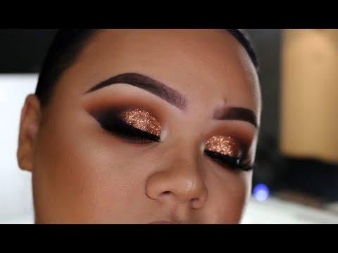Copper Glitter Eyes Makeup Tutorial