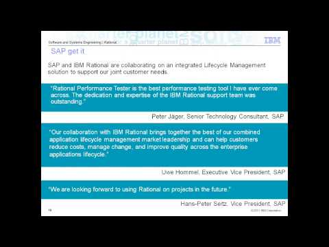 Maximize your SAP® software with IBM Rational® Software