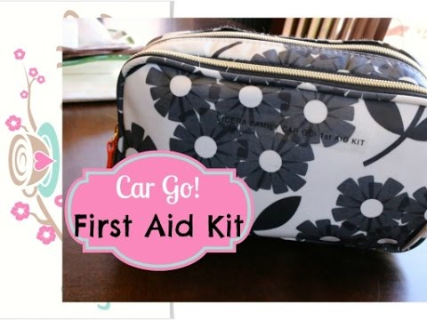 Travel Made Easy with a DIY 1st Aid Kit in my Car (Orla Kiely) {how to organize}